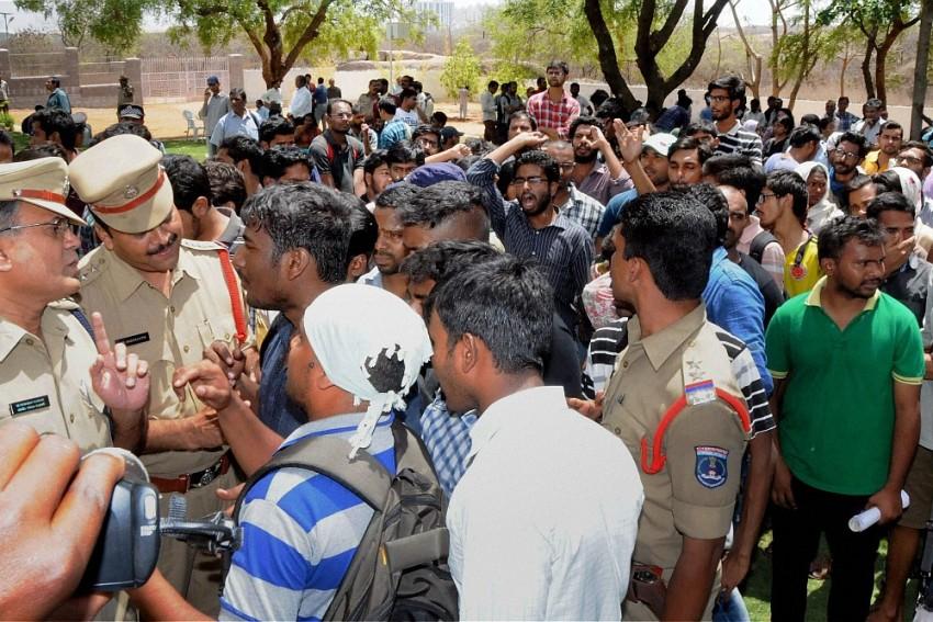 Simmering Tension At Hyderabad University