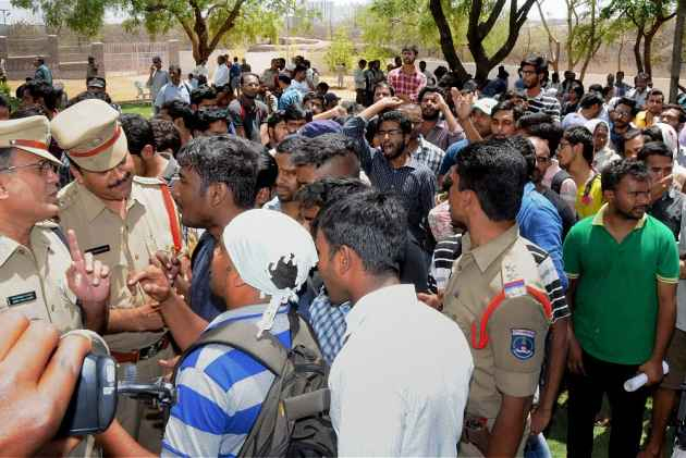 Simmering Tension At Hyderabad University