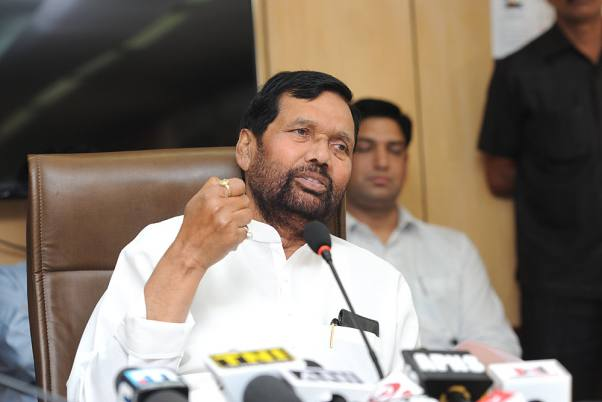 Outlook Photo Gallery Union Minister For Consumer Affairs Food And Public Distribution Ram Vilas Paswan Holding A Press Conference Regarding Implementation Of National Food Security Act In New Delhi