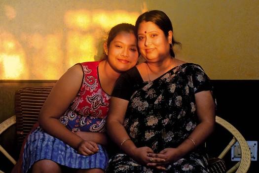 Jhumli Bhattacharjee with her daughter