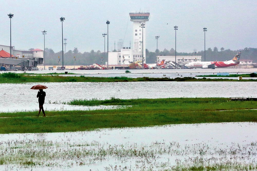 Runaway River On Kochi's Flight Path