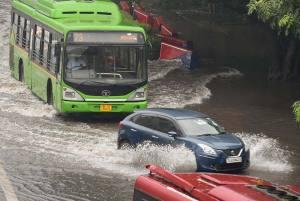 Heavy Rains Lash Delhi-NCR; Waterlogging, Traffic Jam Hit City