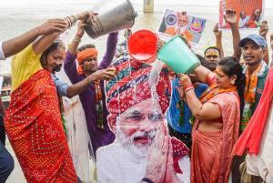BJP Supporters Celebrate PM Narendra Modi's 71st Birthday