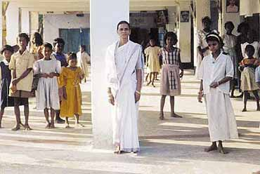 Her mission in life—to give lepers and child prostitutes a reason to smile