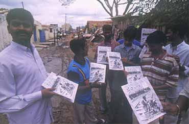 In a Bangalore slum, the printed word is the voice of the people