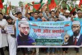 Jaipur: Demonstration Held in Support of Naik, Owaisi
