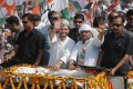 Rahul Takes On Modi in Massive Roadshow in Varanasi